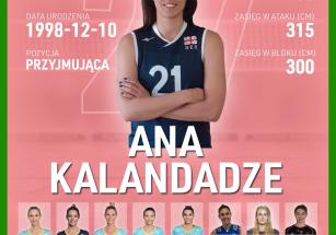 Ana Kalandadze nową przyjmującą!