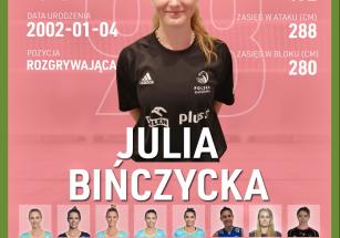 Julia Bińczycka nową rozgrywającą!