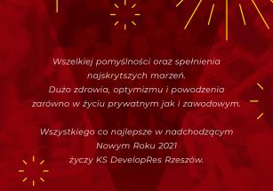 Szczęśliwego 2021 Roku!