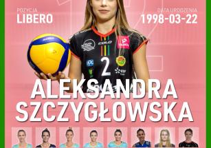 Aleksandra Szczygłowska nową libero!