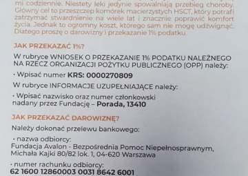 Pomoc dla Grzegorza Porady
