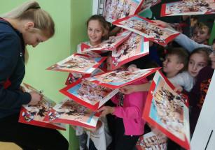 Barbara Zakościelna wizyta w SP 5 w Słocinie